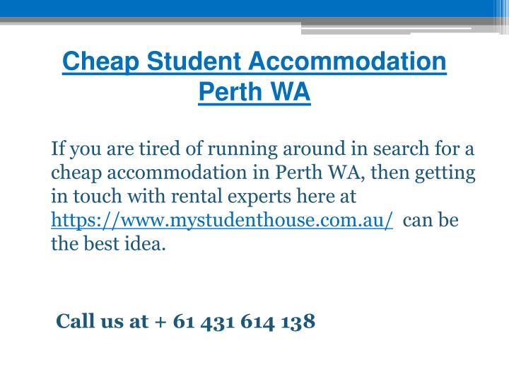 Cheap Student Accommodation Perth WA