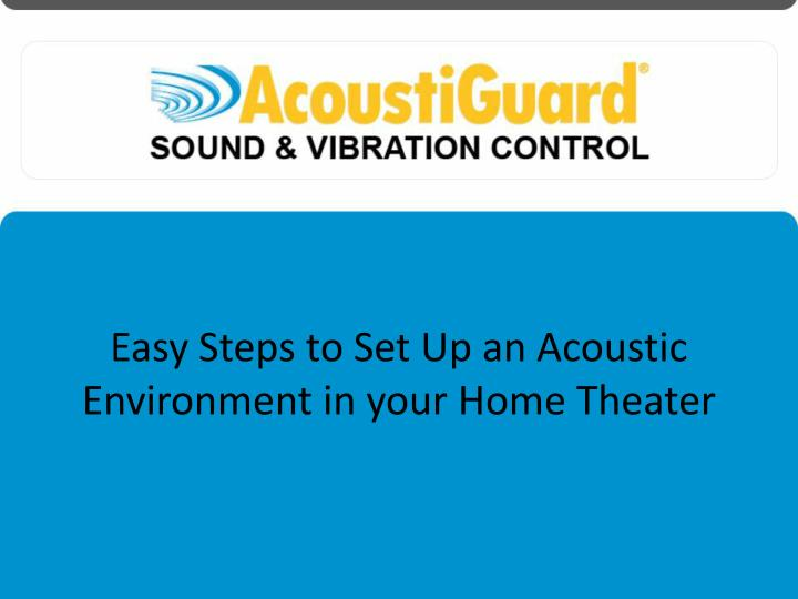 Easy Steps to Set Up an Acoustic