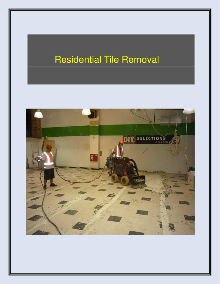 Residential Tile Removal