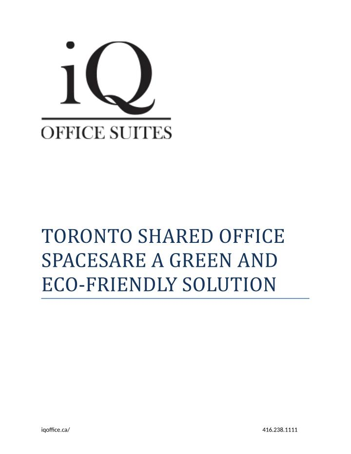 TORONTO SHARED OFFICE