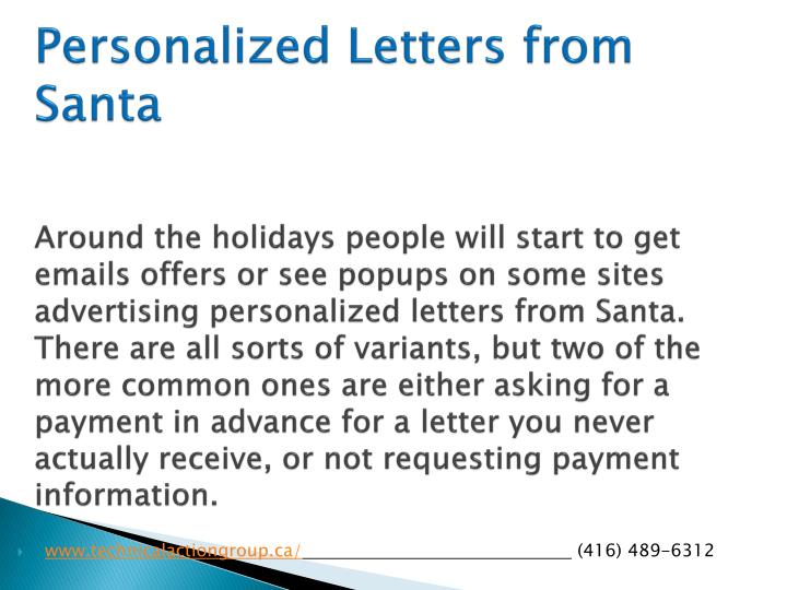 Personalized Letters from Santa
