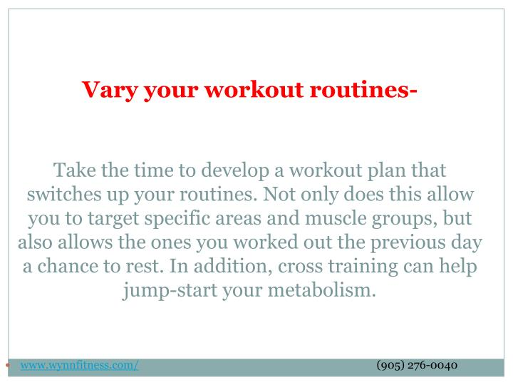 Vary your workout