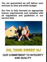 oil tank sweep nj1