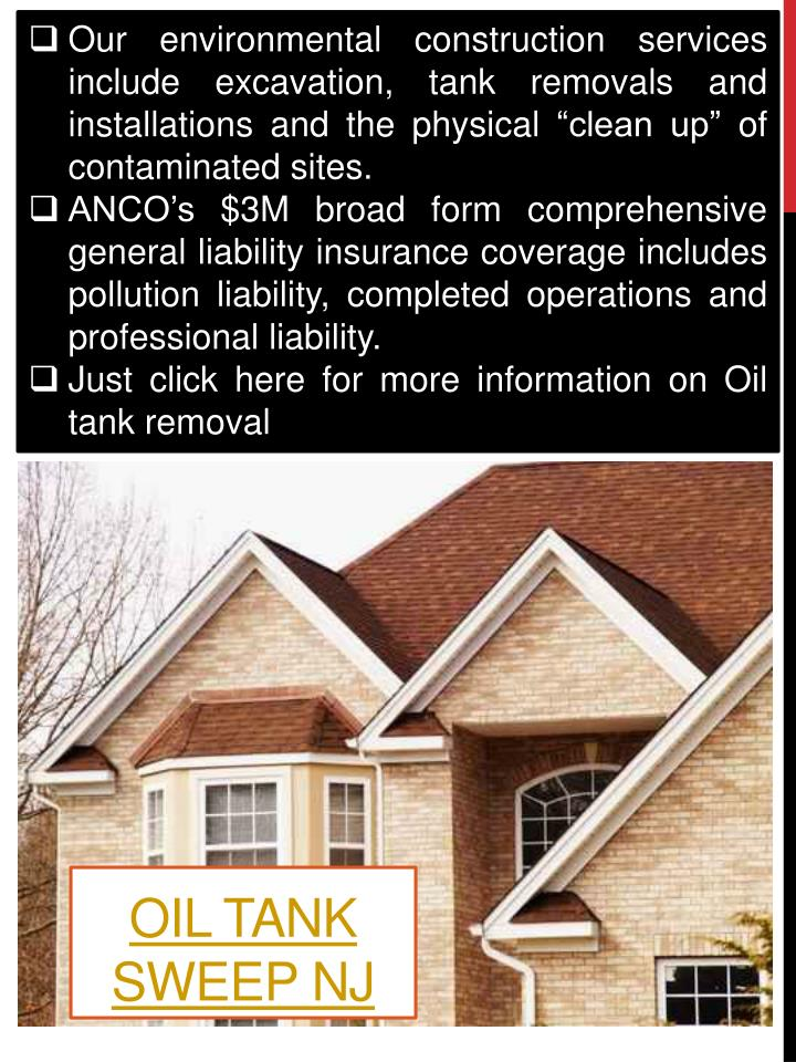 """Our environmental construction services include excavation, tank removals and installations and the physical """"clean up"""" of contaminated sites."""