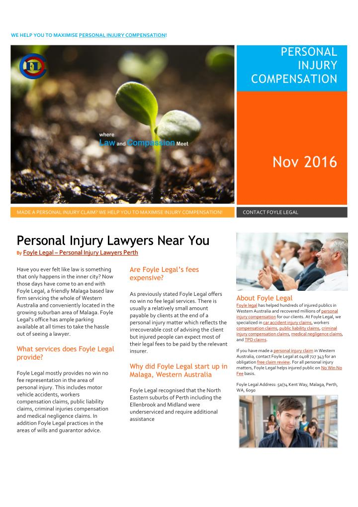 WE HELP YOU TO MAXIMISE PERSONAL INJURY COMPENSATION!