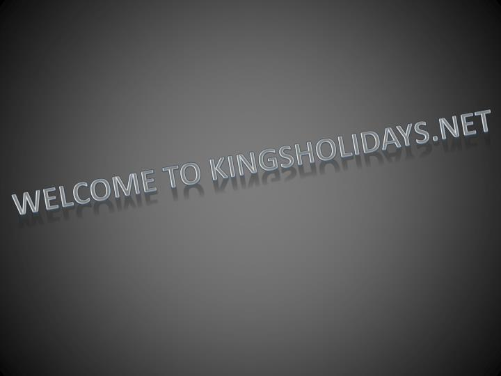 Welcome to kingsholidays.net