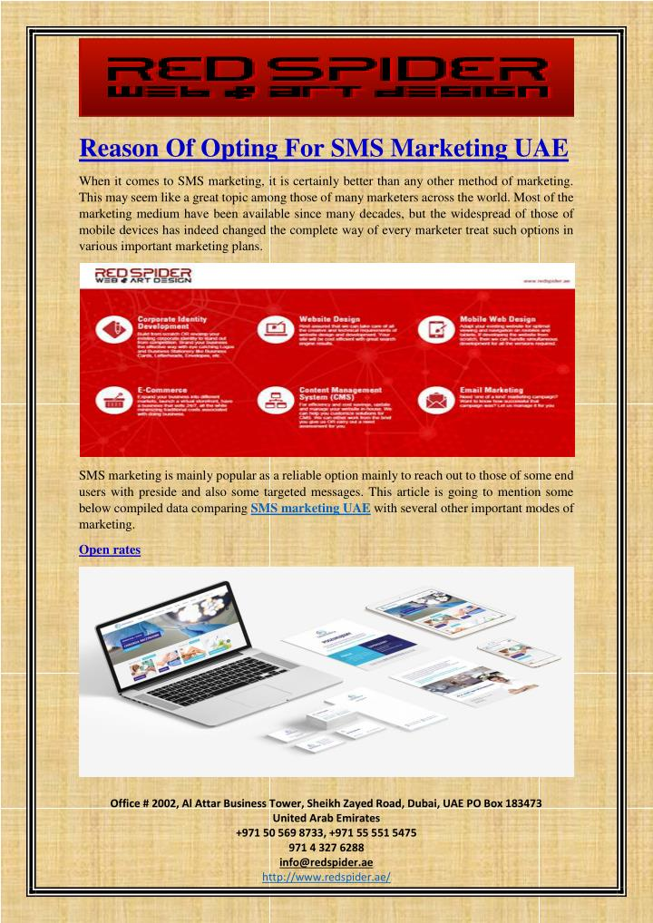 Reason Of Opting For SMS Marketing UAE