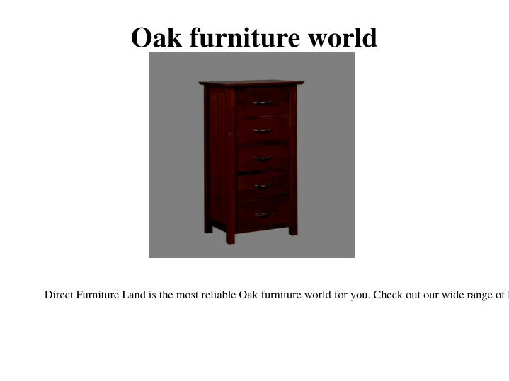 Oak furniture world