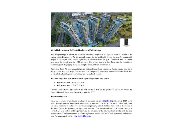 Ats noida expressway residential project ats knightsbridge