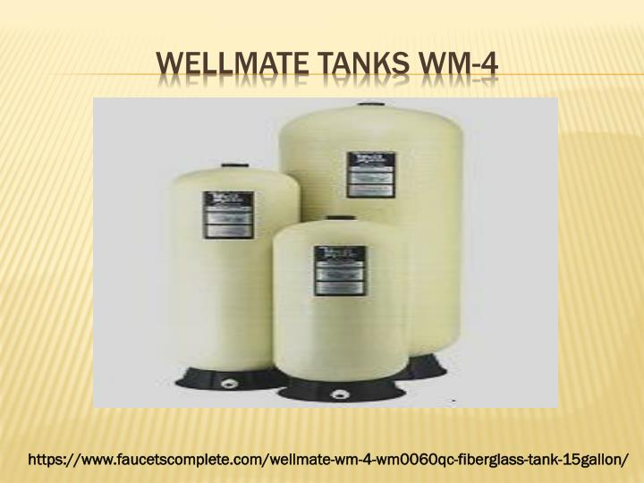 Wellmate tanks wm 4