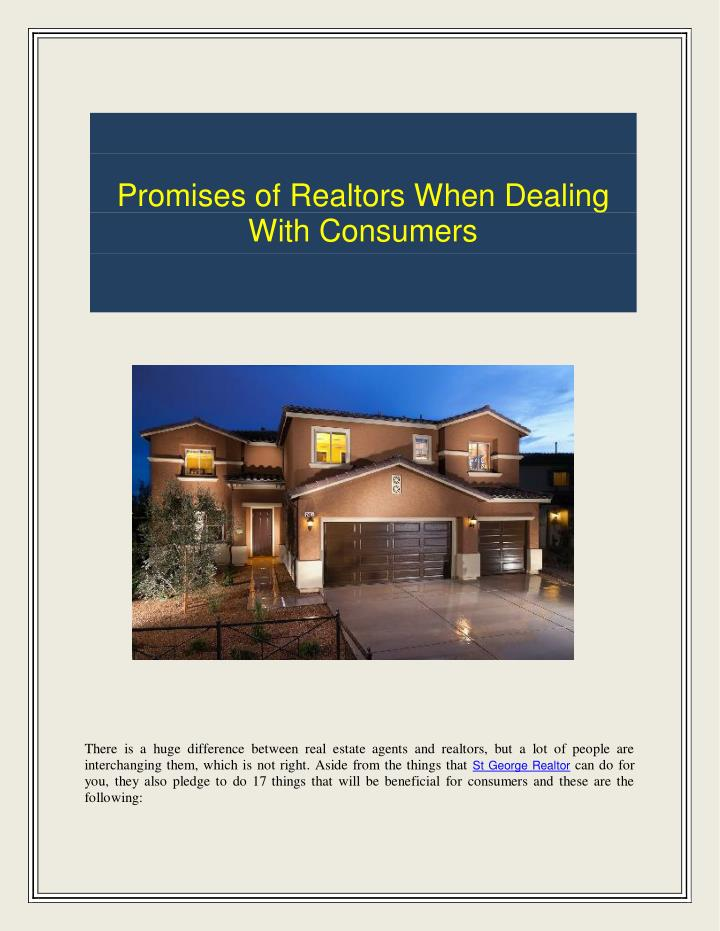 Promises of Realtors When Dealing