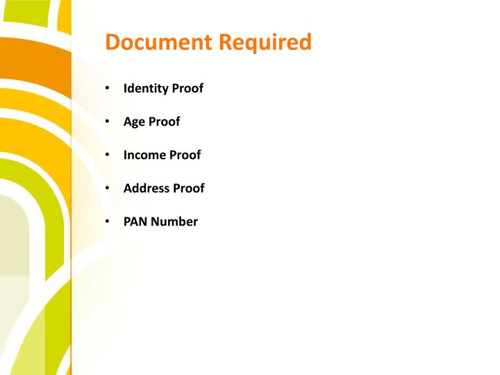 Document Required
