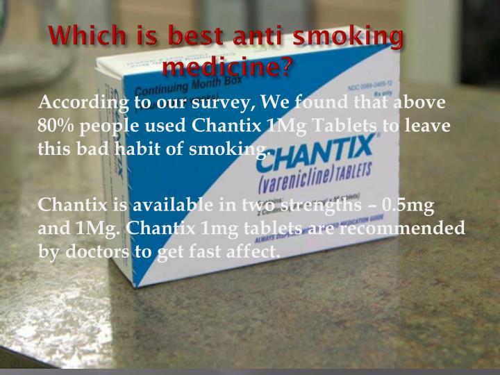Which is best anti smoking medicine?