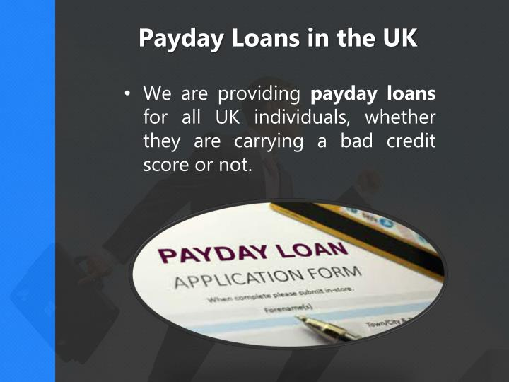Payday Loans in the UK
