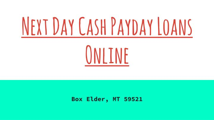 Next Day Cash Payday Loans Online