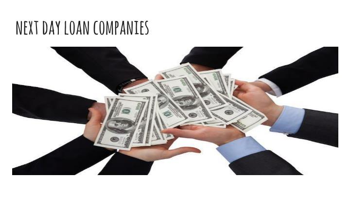 next day loan companies