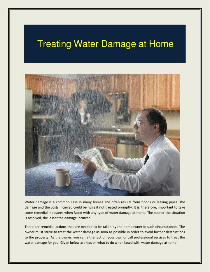 Treating Water Damage at Home