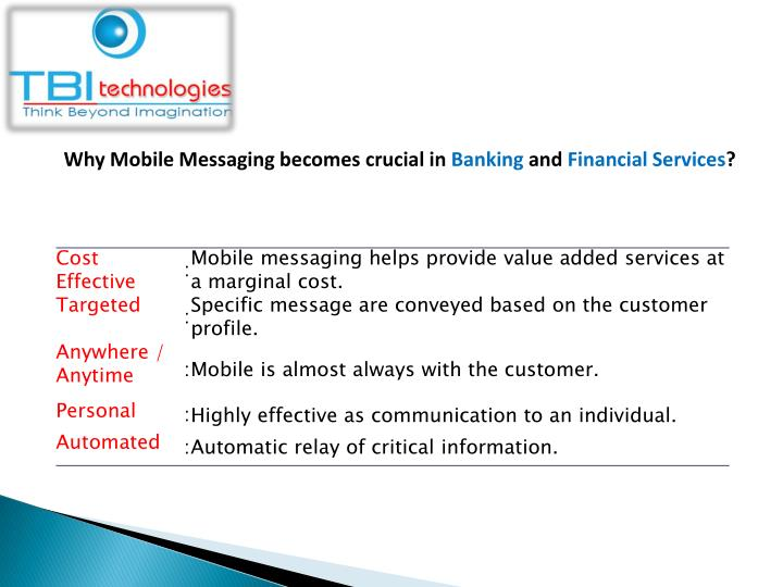 Why Mobile Messaging becomes crucial in