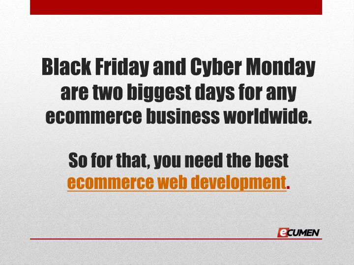 Black Friday and Cyber