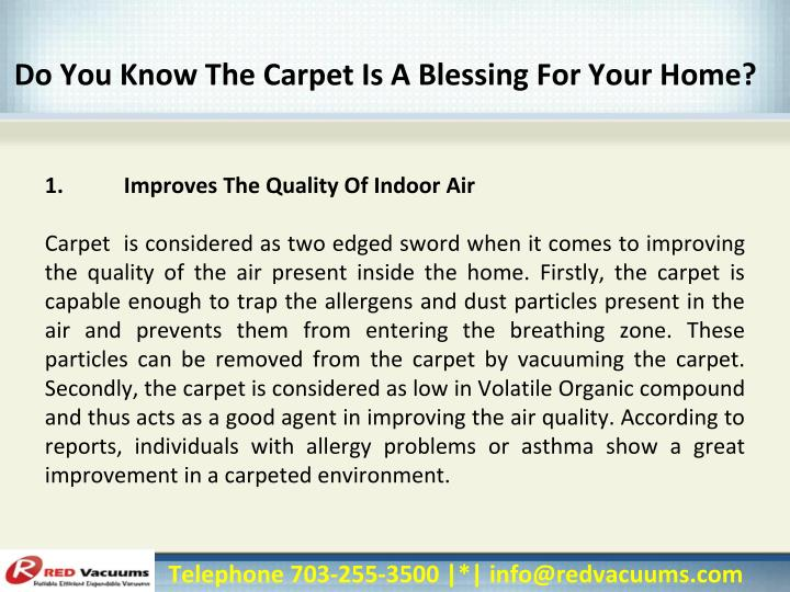 Do You Know The Carpet Is A Blessing For Your Home?