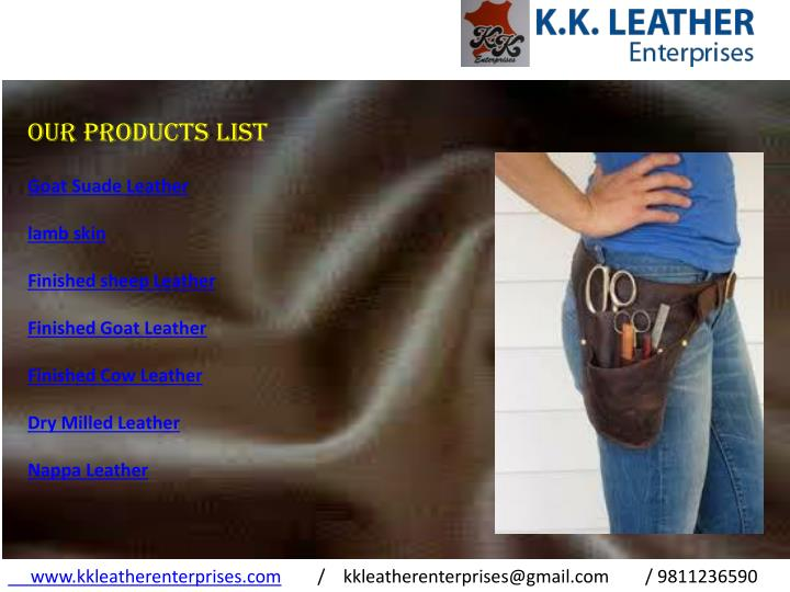OUR PRODUCTS LIST