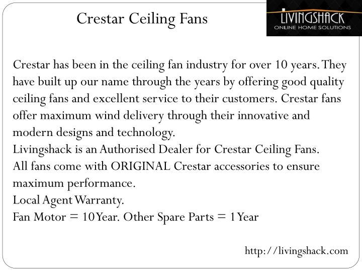 Crestar Ceiling Fans