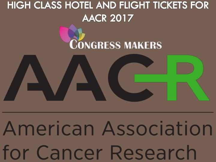 Join aacr conference and book affordable hotel in usa