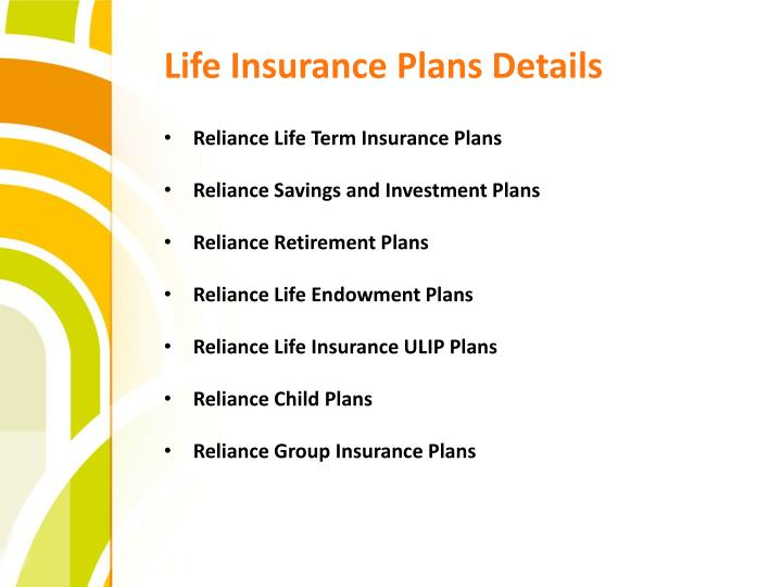 Life Insurance Plans Details