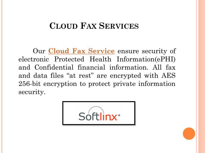 Cloud Fax Services