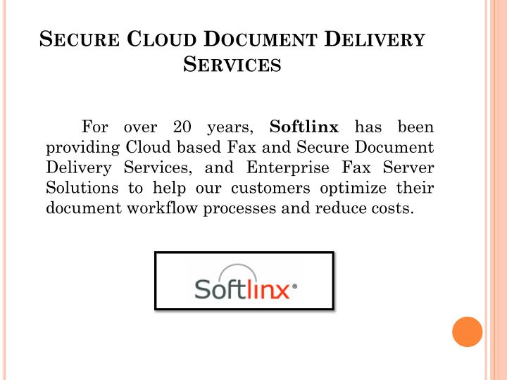 Secure Cloud Document Delivery Services