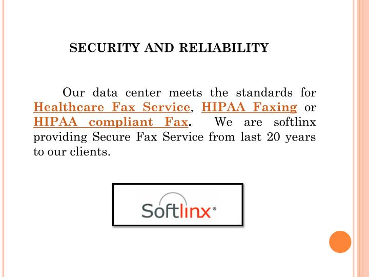 security and reliability