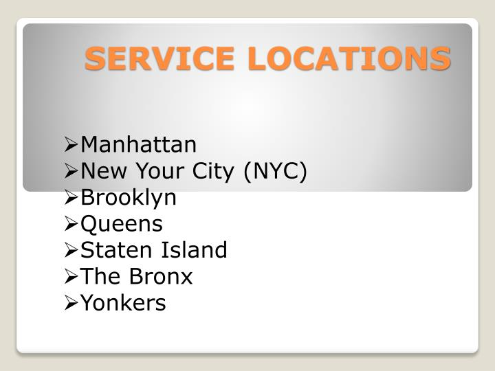 SERVICE LOCATIONS