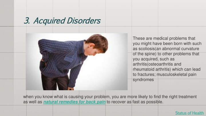3. Acquired Disorders