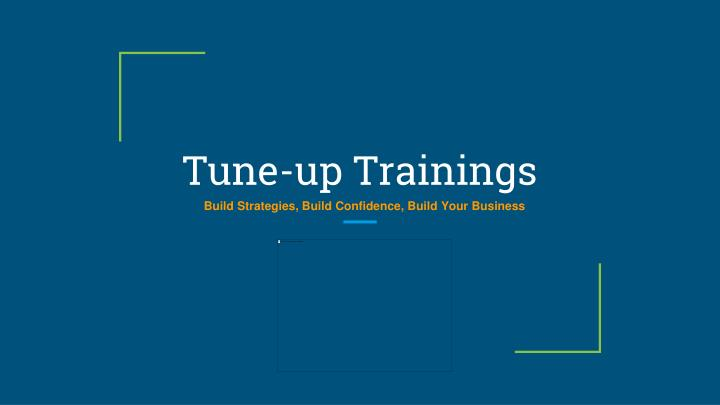 Tune up trainings