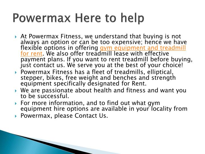 Powermax Here to