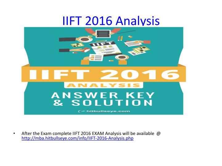 IIFT 2016 Analysis