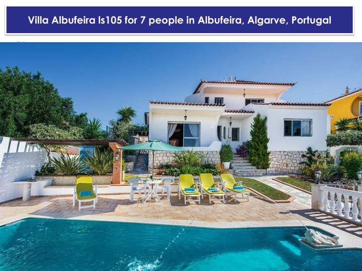 Villa albufeira ls105 for 7 people in albufeira algarve portugal