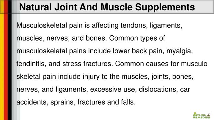 Natural Joint And Muscle Supplements
