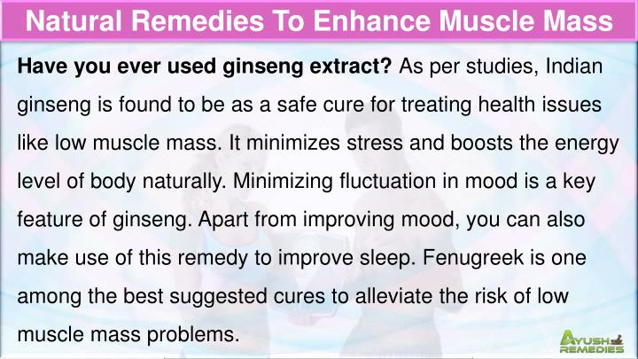 Natural Remedies To Enhance Muscle Mass