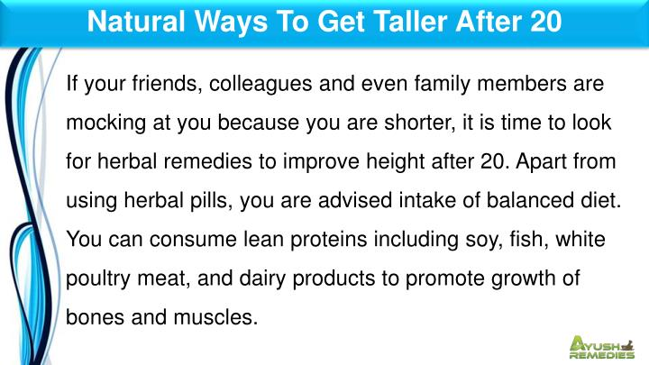 Natural Ways To Get Taller After 20