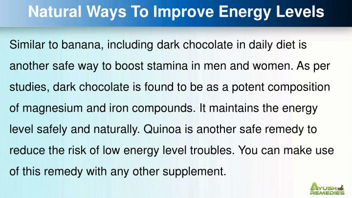 Natural Ways To Improve Energy Levels