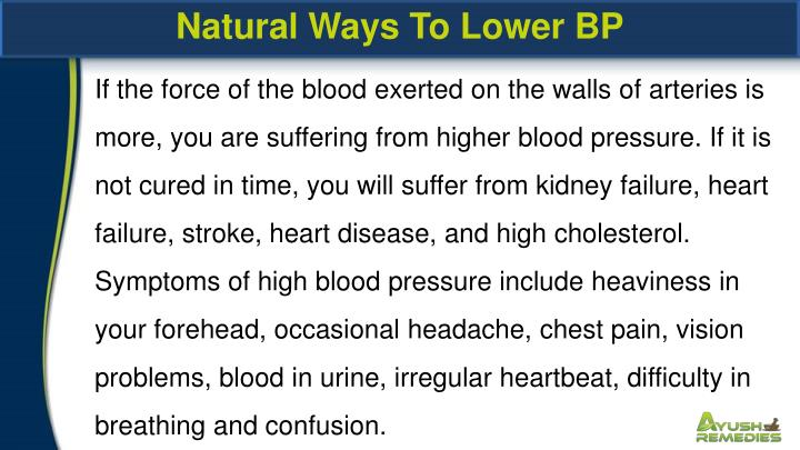 Natural Ways To Lower BP