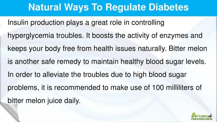 Natural Ways To Regulate Diabetes
