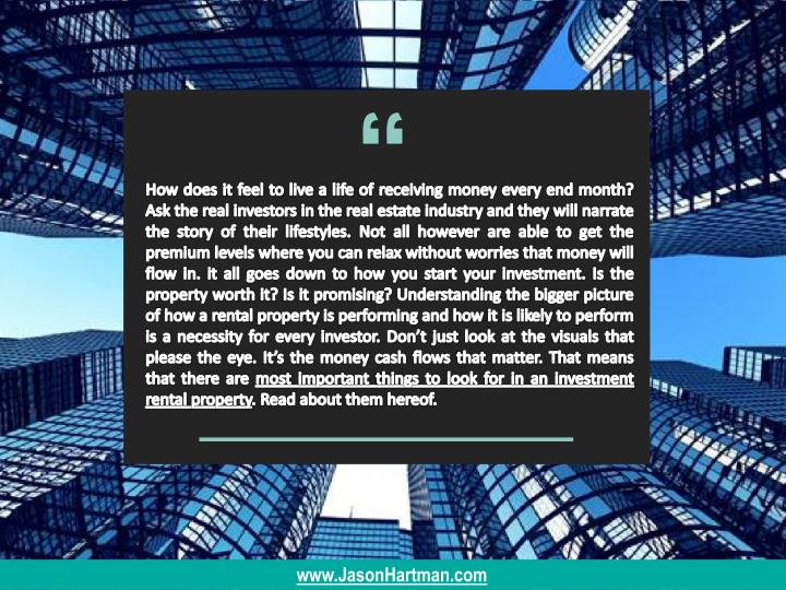 How does it feel to live a life of receiving money every end month? Ask the real investors in the re...