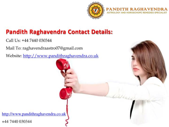 Pandith Raghavendra Contact Details: