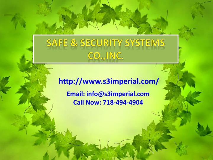 Safe & Security Systems Co.,Inc