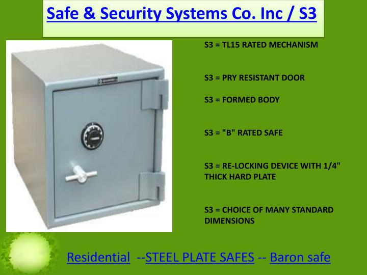 Safe & Security Systems Co. Inc / S3