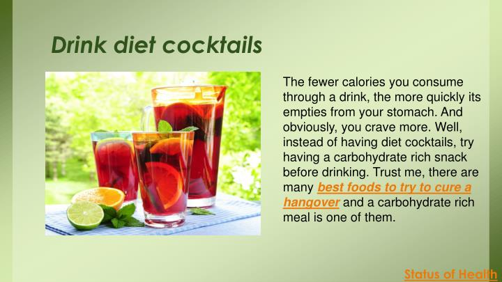 Drink diet cocktails