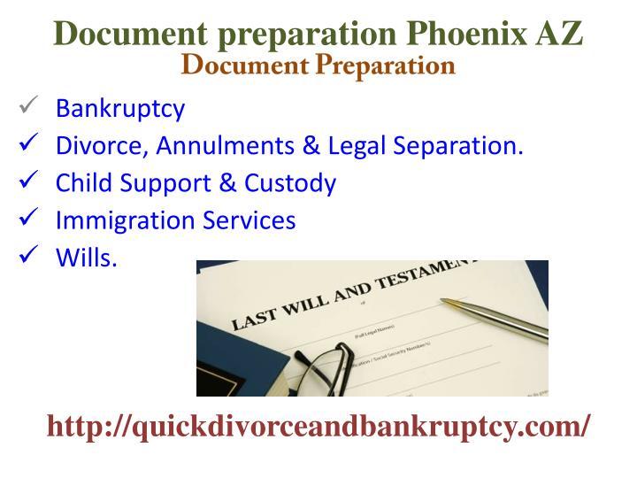 Document preparation Phoenix