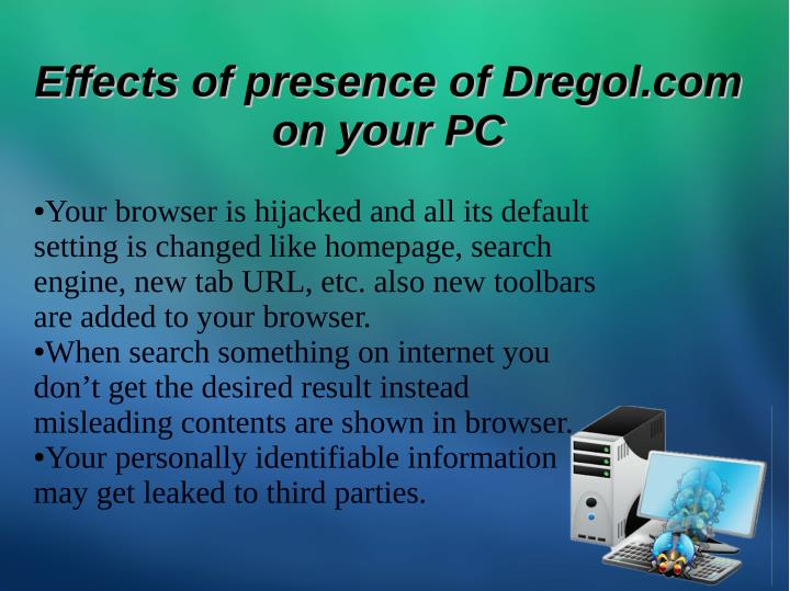 Effects of presence of Dregol.com